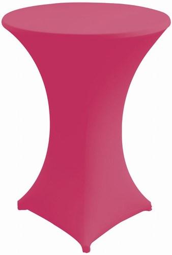 hussen husse in pink f r stehtisch 70 cm stil mietm bel geschirr und zeltverleih. Black Bedroom Furniture Sets. Home Design Ideas